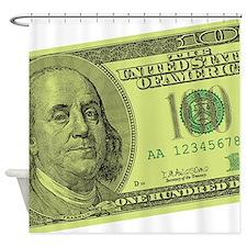 Cool Hundred dollar bill Shower Curtain