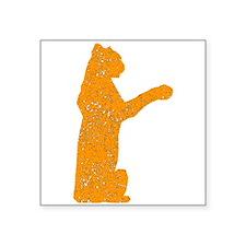 Distressed Orange Jaguar Sticker