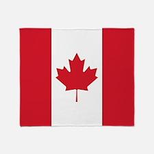 Cute Canadian flag Throw Blanket