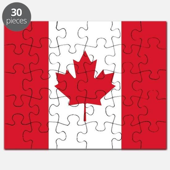Cute Canada flag Puzzle