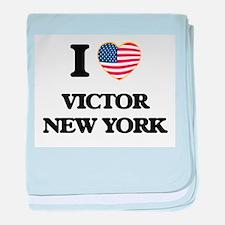 I love Victor New York baby blanket