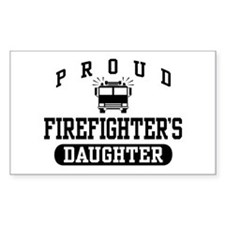 Proud Firefighter's Daughter Rectangle Decal