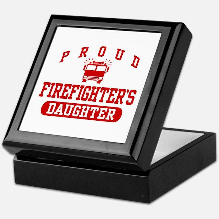 Proud Firefighter's Daughter Keepsake Box