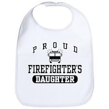 Proud Firefighter's Daughter Bib
