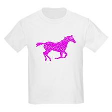 Distressed Pink Horse Running T-Shirt