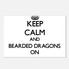 Keep Calm and Bearded Dra Postcards (Package of 8)