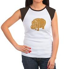 Distressed Brown Hippopotamus T-Shirt