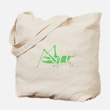 Distressed Green Grasshopper Tote Bag