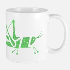 Distressed Green Grasshopper Mugs