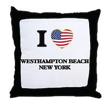 I love Westhampton Beach New York Throw Pillow
