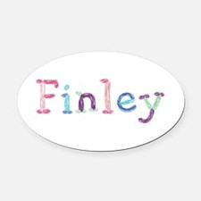 Finley Princess Balloons Oval Car Magnet