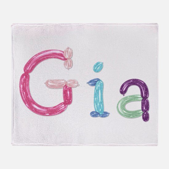 Gia Princess Balloons Throw Blanket