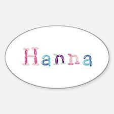 Hanna Princess Balloons Oval Decal