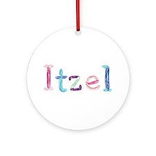 Itzel Princess Balloons Round Ornament