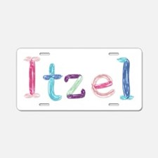 Itzel Princess Balloons Aluminum License Plate