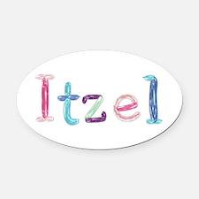 Itzel Princess Balloons Oval Car Magnet