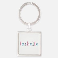 Isabelle Princess Balloons Square Keychain