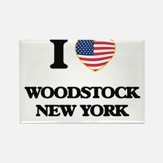 I love Woodstock New York Magnets