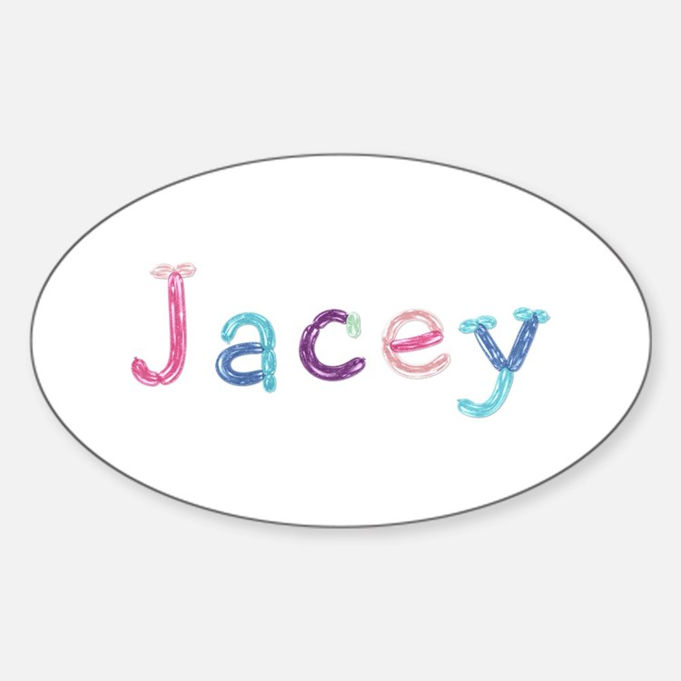 Jacey Princess Balloons Oval Decal