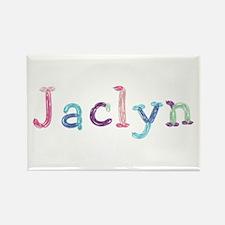 Jaclyn Princess Balloons Rectangle Magnet