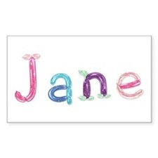 Jane Princess Balloons Rectangle Sticker 10 Pack