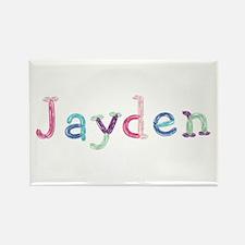 Jayden Princess Balloons Rectangle Magnet