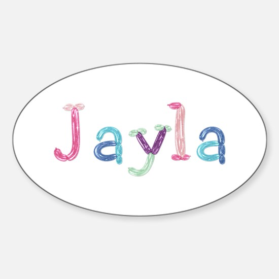 Jayla Princess Balloons Oval Decal