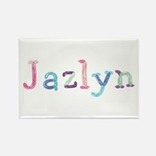 Jazlyn Princess Balloons Rectangle Magnet