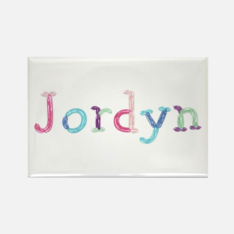 Jordyn Princess Balloons Rectangle Magnet