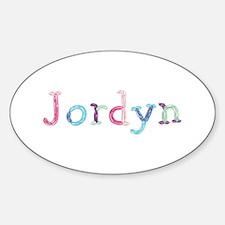 Jordyn Princess Balloons Oval Decal