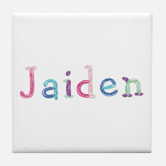 Jaiden Princess Balloons Tile Coaster