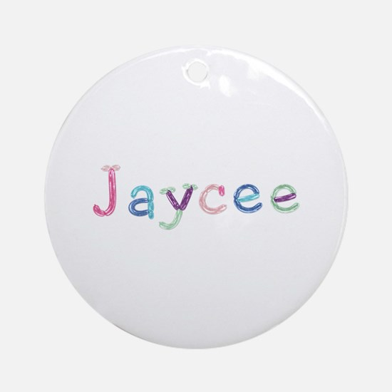Jaycee Princess Balloons Round Ornament