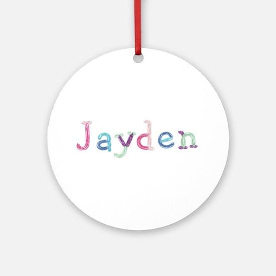Jayden Princess Balloons Round Ornament