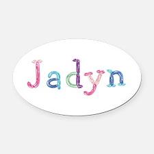 Jadyn Princess Balloons Oval Car Magnet