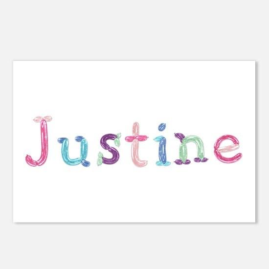 Justine Princess Balloons Postcards 8 Pack