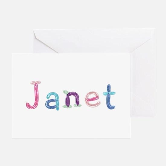 Janet Princess Balloons Greeting Card