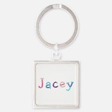 Jacey Princess Balloons Square Keychain