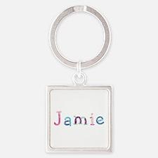 Jamie Princess Balloons Square Keychain