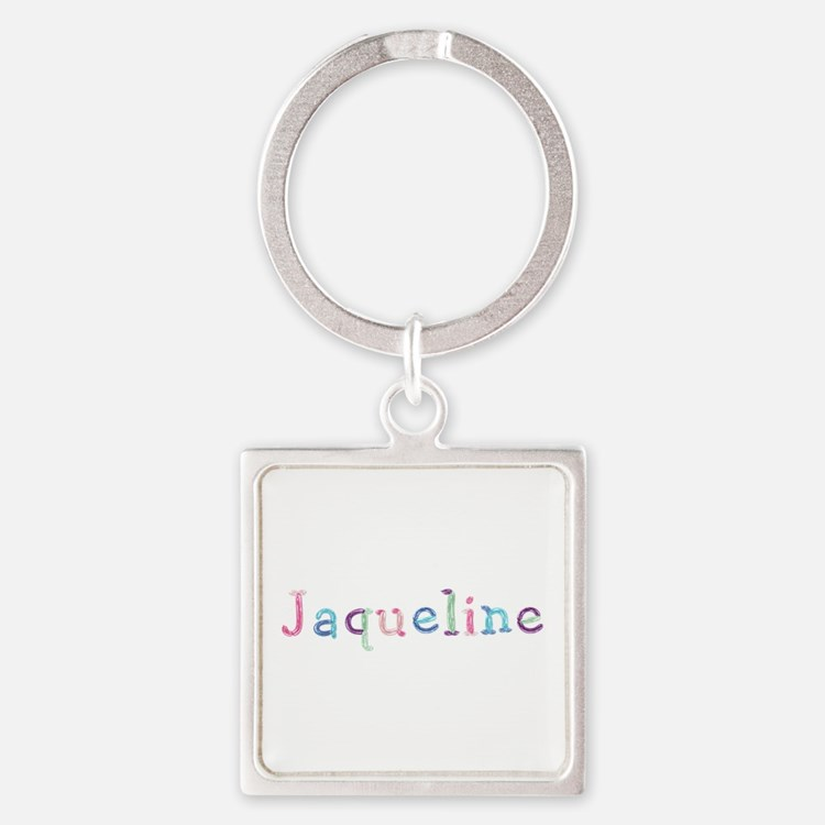 Jaqueline Princess Balloons Square Keychain