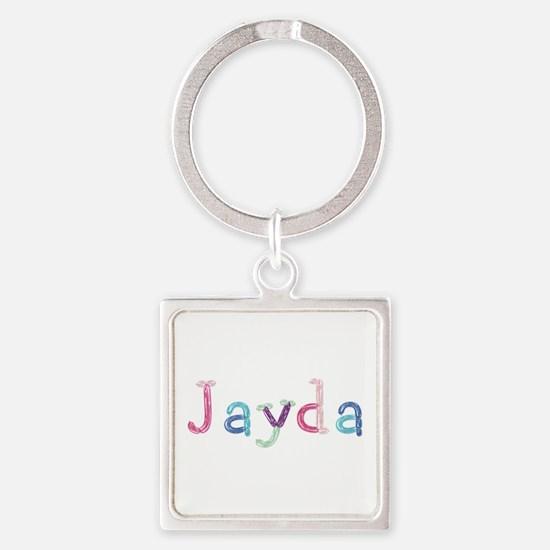 Jayda Princess Balloons Square Keychain