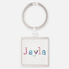 Jayla Princess Balloons Square Keychain