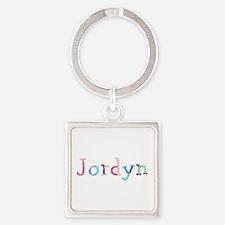 Jordyn Princess Balloons Square Keychain