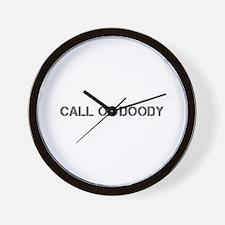 call of doody-cle gray Wall Clock