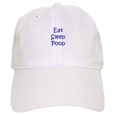 eat sleep poop-kri blue Baseball Baseball Cap