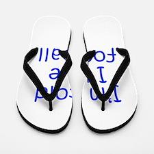 I m told I love football-Kri blue 300 Flip Flops