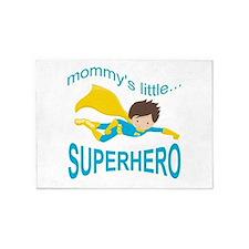 Cute Mommy's Little Super Hero - Bo 5'x7'Area Rug