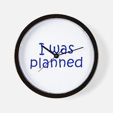 I was planned-Kri blue 300 Wall Clock