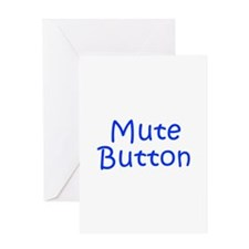 Mute Button-Kri blue 300 Greeting Cards