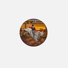 Ride 'em Cowboy Mini Button