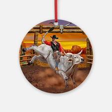 Ride 'em Cowboy Round Ornament